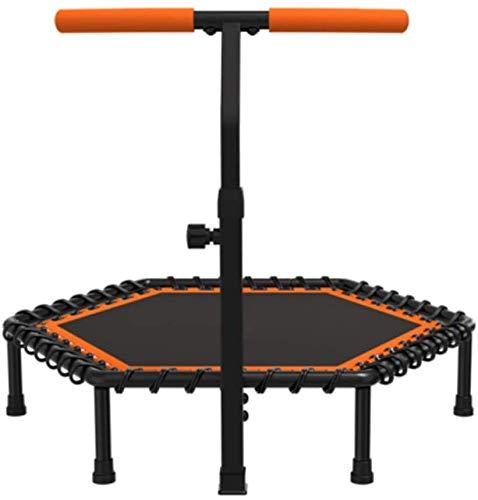 Ayanx Trampolin Fitness Trampolin, 42 Zoll Silent Mini Trampolin mit verstellbarem Handlauf, Indoor Rebounder für Erwachsene und Kinder, maximale Belastung 300 Pfund (Größe: 42 Zoll)