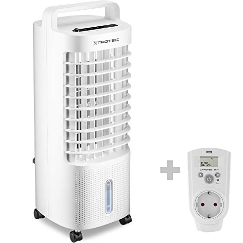 TROTEC Aircooler PAE 11 Luftkühler 3-in-1 mobile Klimaanlage Ventilator Luftbefeuchter 3 l Tank Verdunstungskühlung inkl. Steckdosen-Hygrostat BH30