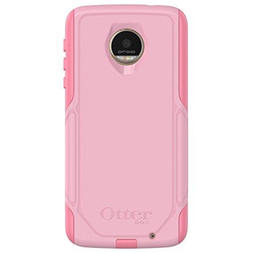 OtterBox Commuter Series Case for Motorola Moto Z Droid Edition (ONLY) - Retail Packaging - Bubblegum Way (Bubblegum Pink/Seashell Pink)