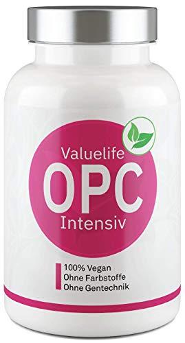 OPC Intensiv: Französischer Traubenkernextrakt + Resveratrol aus original Staudenknöterich - Vegan, laborgeprüft, ohne Zusatzstoffe und hergestellt in Deutschland - 120 Kapseln von VALUELIFE