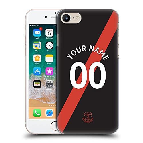 Head Case Designs Licenza Ufficiale Personalizzata Personale Everton Football Club Away 2021/22 Kit Cover Dura per Parte Posteriore Compatibile con Apple iPhone 7 / iPhone 8 / iPhone SE 2020