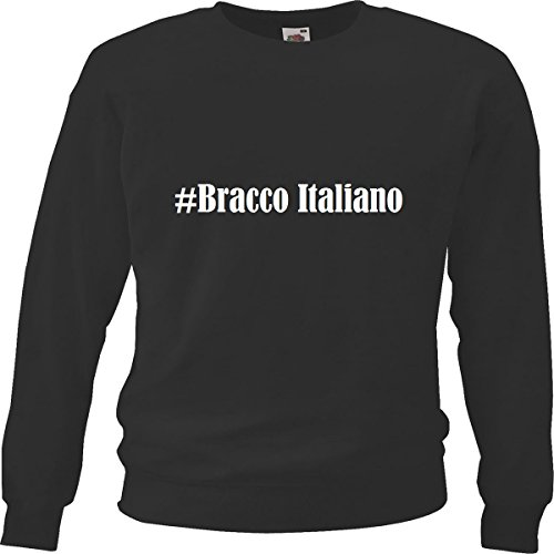 Reifen-Markt Sweatshirt #Bracco Italiano Größe XL Farbe Schwarz Druck Weiss