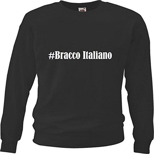 Reifen-Markt Sweatshirt Damen #Bracco Italiano Größe M Farbe Schwarz Druck Weiss
