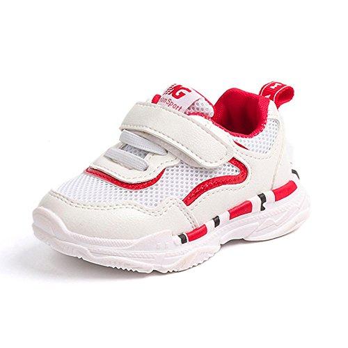 Zapatos planos Niños En Venta, Zapatos de bebé Niño Niño Niños Niñas Niños Zapatillas de deporte casuales Malla Suave Running Letter Rojo 4-4.5 años, Zapatos de bebé Recién nacido