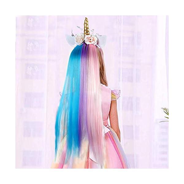 Lorfancy Unicorn Headband for Girls Unicorn Costume Birthday Halloween Party Unicorn Party Supplies Favors 9