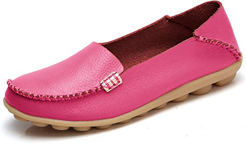 VenusCelia Women's Natural Comfort Walking Flat Loafer(10 M US,HotPink)