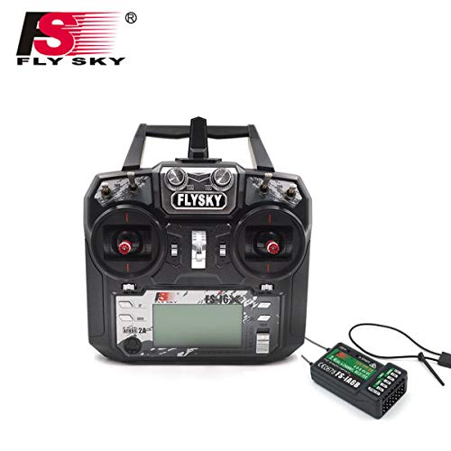 Flysky FS-i6X FS I6X 2.4G 6CH RC Transmitter Controller iA6B Receiver for RC Helicopter Multi-Rotor Drone(Model_2)