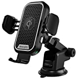Wireless Car Charger 15W, Beasyjoy Qi Auto-Clamping Car Mount Air Vent Dashboard Windshield Phone Holder for iPhone 12/12 Pro Max/Mini/11 Pro Max, Samsung S10/S10+/S9/S9+/S8/S8+