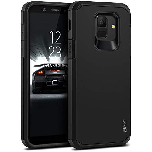 BEZ Cover Samsung A6, Custodia per Samsung Galaxy A6 2018 Rigida Protettiva con Impact [Antiurto, Assorbimento-Urto] Bumper Protezione da Cadute e Urti Posteriore - Nero