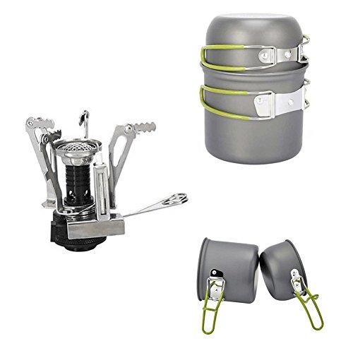 PULNDA 2PCS Utensilios Portátiles de Cocina de camping de aleación de aluminio...