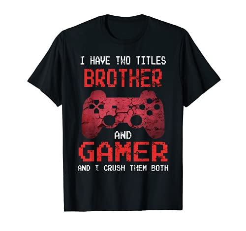 Funny Gamer Vintage Video Games For Boys Brother Son T-Shirt