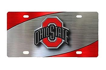 Panda ohio state buckeyes custom Metal License Plate for Car custom car tag 12 inch X 6 inch