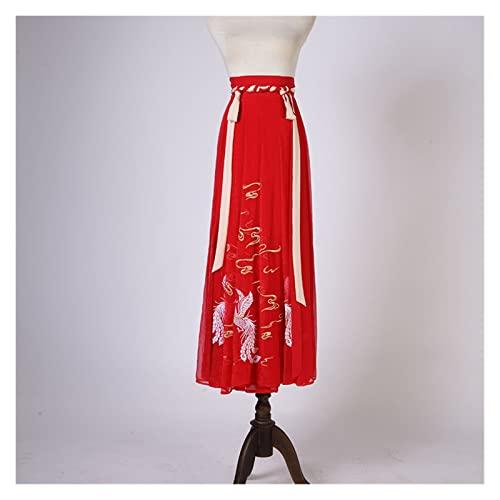 KAITUO Huang Jin Hanfu Femenino autntico Original xiangyun fnix Camisa de Manga Grande Mandarina roja Juntos (Color : Beige, Size : XS)