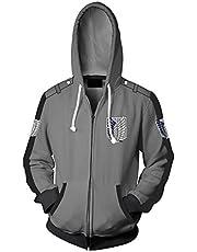 Cosplay Attack on Titan Zip Sweatshirts Scouting Legioen vrijheid 3D Prined lange mouwen jas jas voor tieners mannen vrouwen