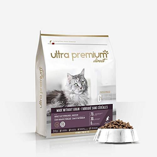 ULTRA PREMIUM DIRECT - Croquettes sans Céréales pour Chats Adultes Stérilisés ou d'intérieur...
