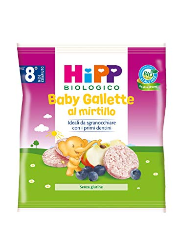 Hipp - Baby Gallette Di Riso Al Mirtillo Bio, 7 Confezioni da 30 G - 210 g