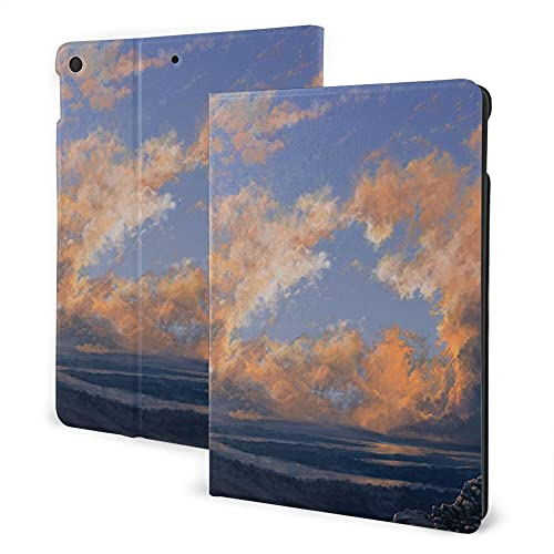 Case For Ipad 8/7 (2020/2019 Model, 8th / 7th Generation), Ipad Air3 & Pro 10.5in Print Theme - Scenery Decor Clear Open Sky Landscape Sunset With Clouds Beams Ocean And Cliff Print Multicolored