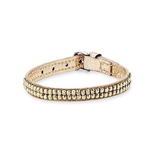S. Oliver para mujer, pulsera de acero inoxidable con Cristal de Swarovski forma redonda 21 cm
