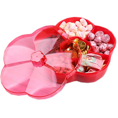 Snack Storage Box with Lid,Candy and Nut Serving...