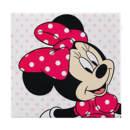 Cojín Cojín para Asiento de Espuma viscoelástica Besos Cuadrados Minnie Mouse Cojín súper Acogedor Cojín Suave para Interior