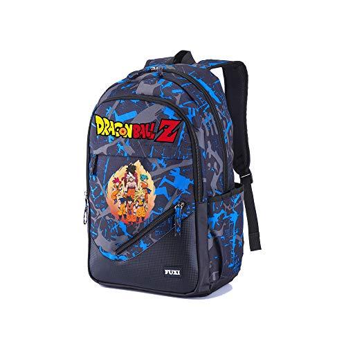 Dragon Ball Mochila Casual Mochila para computadora más vendida Mochila Escolar Mochila clásica Bolsa Impermeable para computadora portátil para Viajar (Color : Blue04, Size : 32 X 18 X 48cm)