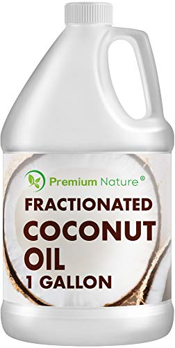 Fractionated Coconut Oil Massage Oils - Liquid MCT Natural & Pure Body Moisturizer Cold Pressed Carrier Massage Oil for Essential Oils Hair Face & Dry Skin Value Bulk Size Clear
