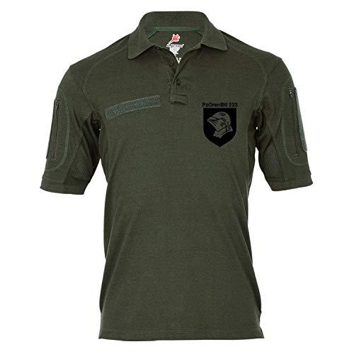 Copytec Copytec Tactical Poloshirt Alfa - PzGrenBtl 223 Panzer Grenadier Bataillon 223 BW Wappen Heer #18970, Größe:S, Farbe:Oliv
