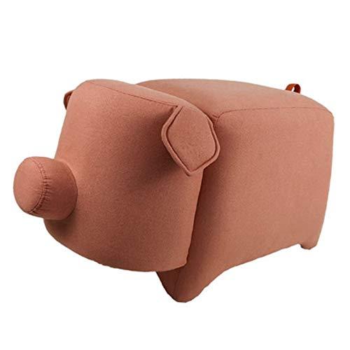 Banco de Zapatos Reemplace el asiento otomana Escabel Software Dresser for el dormitorio de la silla de retro, gris y rosa para la Sala de Estar del Pasillo ( Color : Pink , Size : 76X40X45cm )