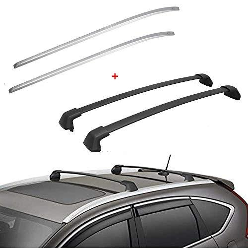 ANTS PART 4Pcs Side Rails + Cross Bars for 2012-2016 Honda CRV CR-V Roof Rack Luggage Carrier