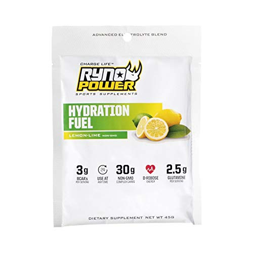 Ryno Power Hydration Fuel Single Serving Powder Mix Drink 45g Lemon Lime