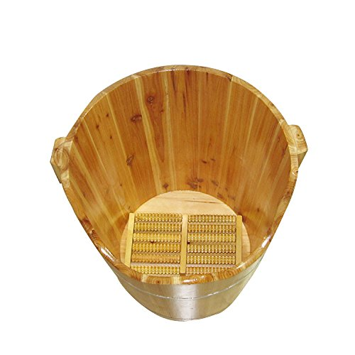 ERHANG Bassin De Pédicure 50cm Pied Bain Baril Pied Bain Maison Cadeaux Sapin Pied Pub Massage Baril Tremper Massage Spa Sauna Saunas