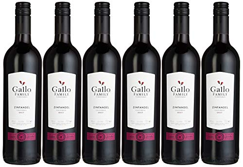 Gallo Family Vineyards Zinfandel Rotwein Trocken (6 x 0.75 l)