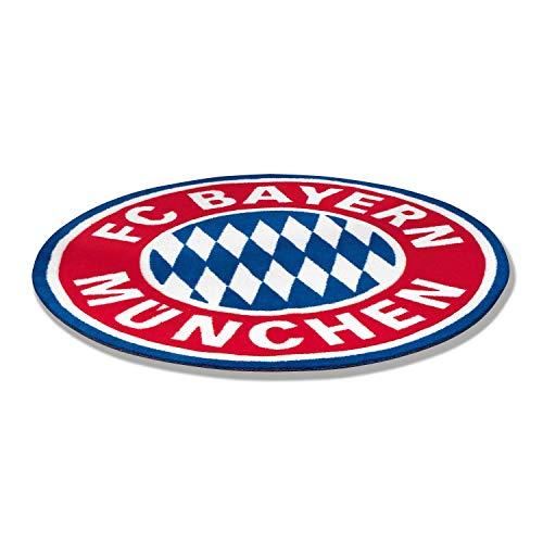 Bayern München Fan-Teppich - Logo - Teppich Fussball kompatibel FCB - Plus Lesezeichen I Love München