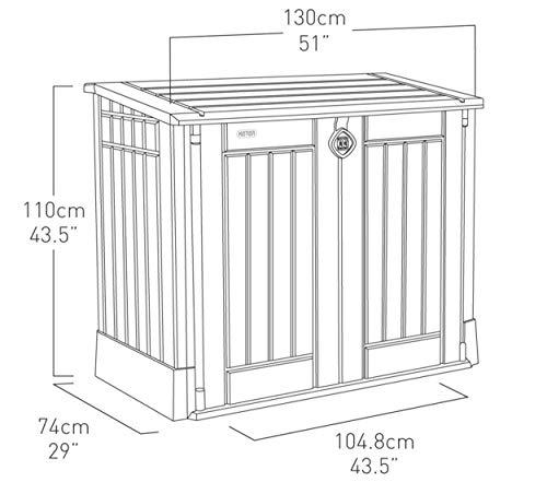 Mülltonnenbox von Keter Store it Out Midi, Schwarz, 845L - 10