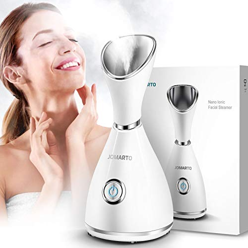 Facial Steamer, JOMARTO Nano Ionic Facial Steamer, Home Humidifier Personal Vaporizer, Portable Home Skin Spa Steamers, Warm Mist for Moisturizing and Blackheads Acne Skin Care, Ideal Gift