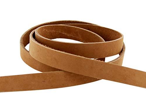 AURORIS - Lederband flach aus Nubukleder - Variante: Breite: 13mm / Länge: 5m / Farbe: hellbraun