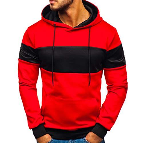 Qinpin Herren 3D Sweatshirts mit Kapuze Weihnachten Herbst Winter Hemd Langarm Top Jumper Shirt Übergröße Pullover Casual Elastisch Hoodie Sportshirts Krawatte binden Kleider frühlingsjacke