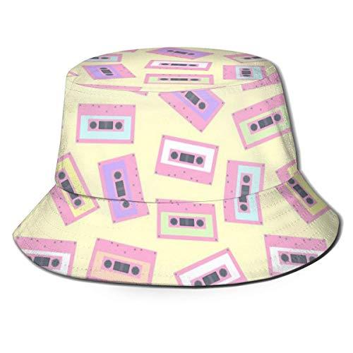 FJXXM Sombrero para el Sol de Pesca con Cinta de Casete Retro,...