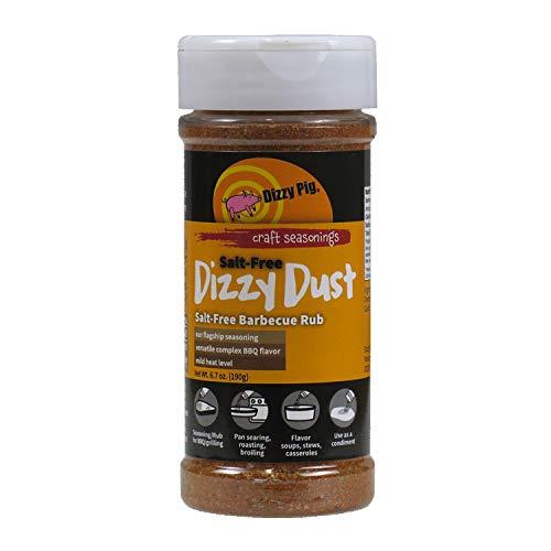 Dizzy Pig Salt Free Dizzy Dust All Purpose Seasoning and BBQ Rub - 6.7oz