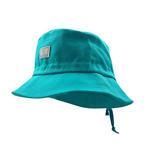 PICKAPOOH Fischerhut mit UV-Schutz Baumwolle, Türkis Gr. 50