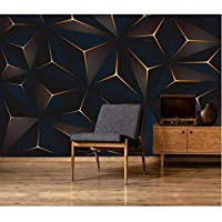 Iusasdz カスタム大壁画壁紙ノルディックモダンミニマリスト幾何学的ステレオテレビ背景壁紙壁画400X280Cm