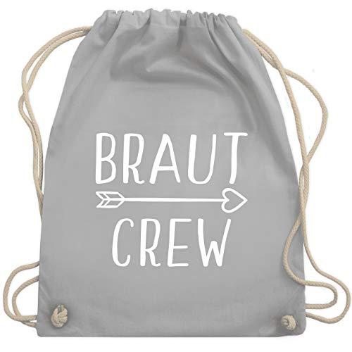 Shirtracer JGA Junggesellenabschied Frauen - Braut Crew Pfeile - Unisize - Hellgrau - rucksäcke junggesellinnenabschied - WM110 - Turnbeutel und Stoffbeutel aus Baumwolle