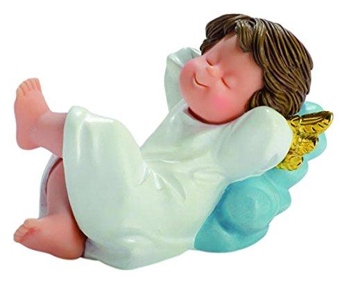 Nadal Figura Decorativa ángel soñador, Resina, Multicolor, 8.50x13.00x9.00 cm