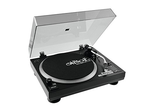 Omnitronic BD-1390 Belt-drive DJ turntable Negro - Tornamesas para dj (Belt-drive DJ turntable, 33 1/3,45 RPM, -10-10%, 0,24%, Manual, 15 dB)