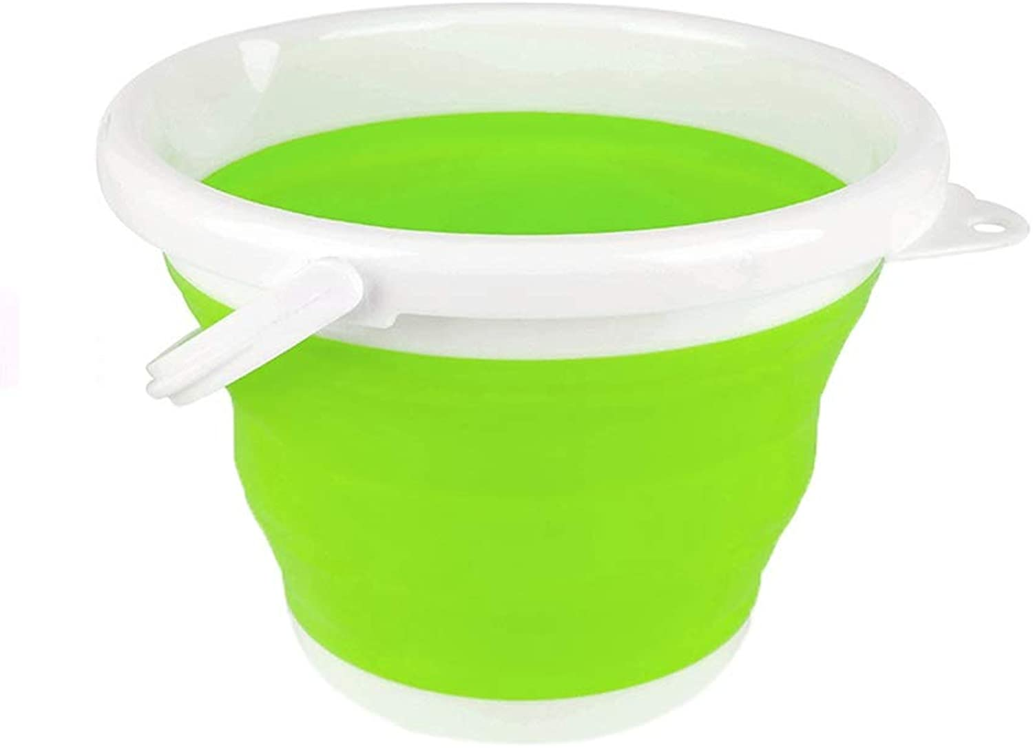 FW Folding Bucket, MultiStandard Easy to Store Outdoor Hiking Fishing Camping Wash Basin, Three colors Optional