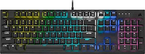 Corsair K60 RGB PRO Mechanische Gaming-Tastatur (Cherry Viola Tastenschalter: Linear und schnell, langlebiger Aluminiumrahmen, personalisierbare Per-Tasten-RGB-Hintergrundbeleuchtung) schwarz