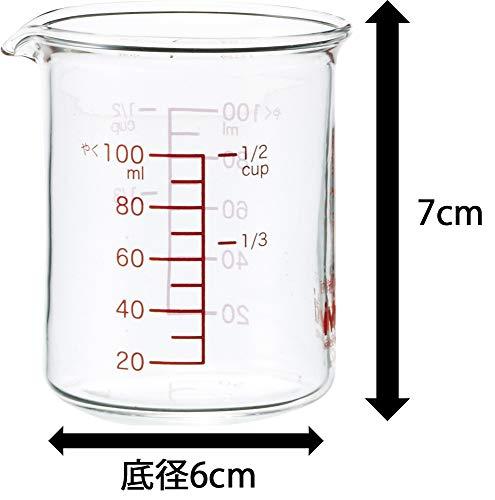 iwaki(イワキ)耐熱ガラス計量カップメジャーカップ100mlKBTMC100