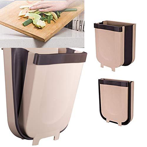 FuYouTa Basurero Colgante Papelera Plegable Cesto de Basura montado en la Pared Cesta de Basura Colgante de Cocina para Inodoro Baño Sala de Estar
