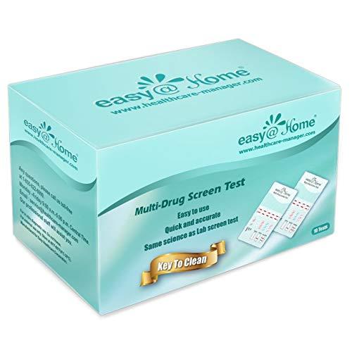 10 Pack Easy@Home 12 Panel Instant Drug Test Kits - Testing Marijuana (THC),COC, OPI 2000, AMP,BAR,BZO,MDMA,MET/mAMP, MTD, OXY,PCP,PPX-Urine Dip Drug Testing -#EDOAP-1124