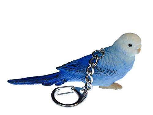Miniblings Wellensittich Sittich Schlüsselanhänger - Handmade Modeschmuck I Anhänger Schlüsselring Schlüsselband Keyring - Wellensittich Sittich